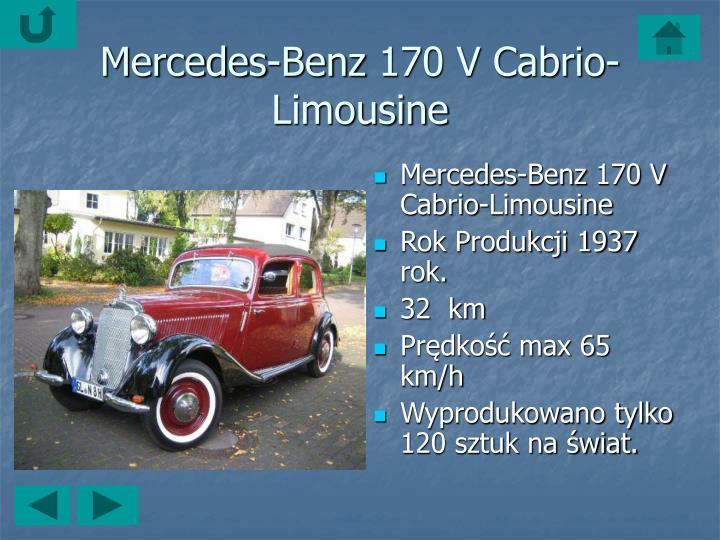 Mercedes-Benz170 V Cabrio-Limousine