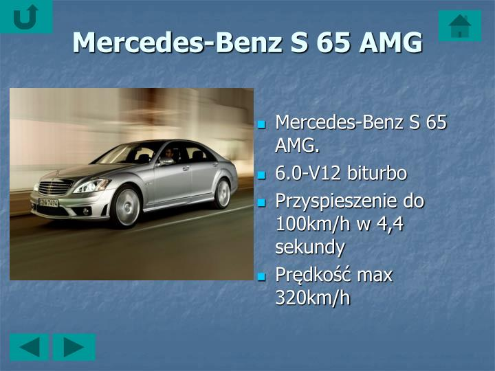 Mercedes-Benz S 65 AMG.