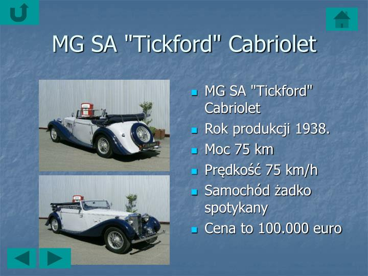 "MG SA ""Tickford"" Cabriolet"
