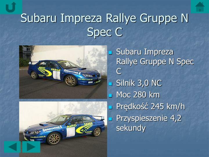 SubaruImpreza Rallye Gruppe N Spec C