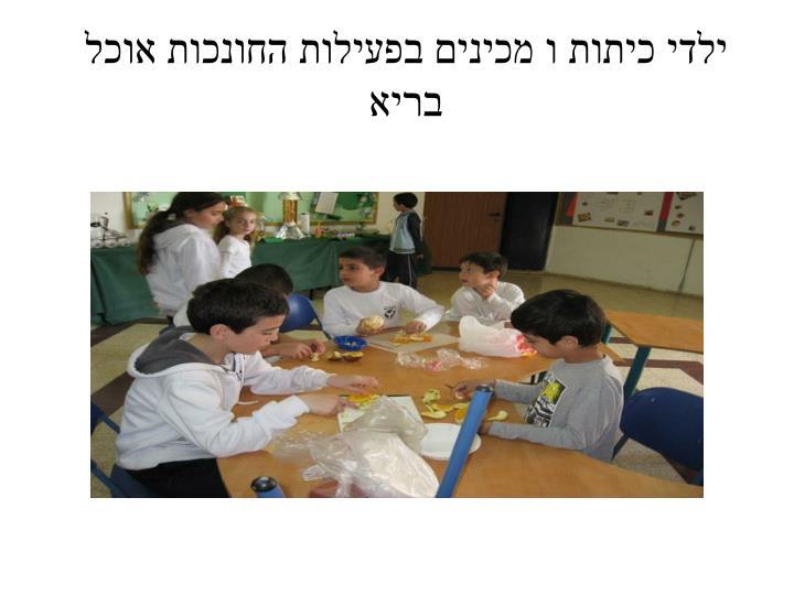 ילדי כיתות ו מכינים בפעילות