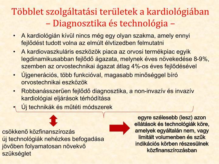 Többlet szolgáltatási területek a kardiológiában – Diagnosztika és technológia –