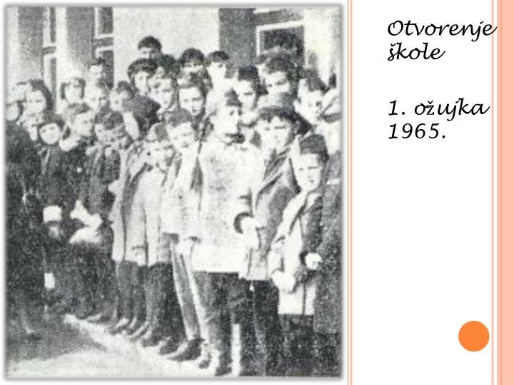 Otvorenje škole