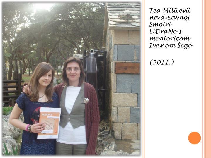 Tea Miličević na državnoj Smotri