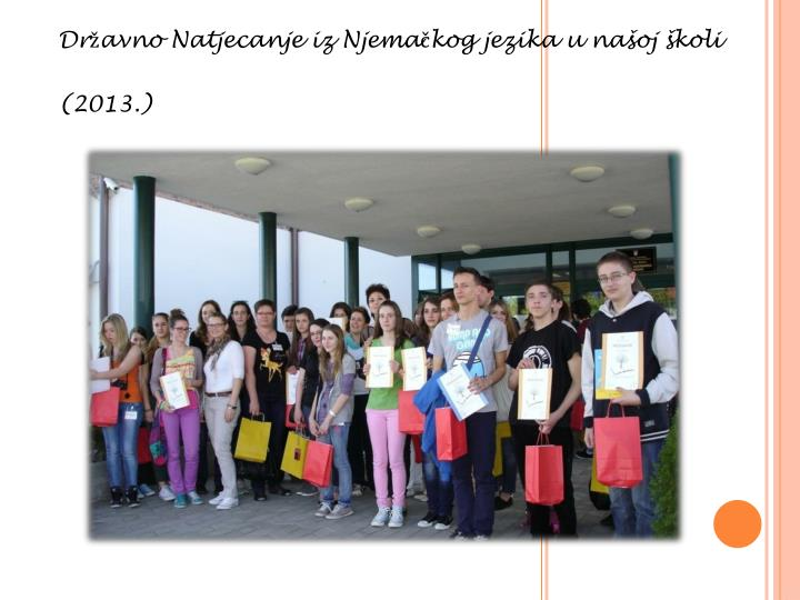 Državno Natjecanje iz Njemačkog jezika u našoj školi