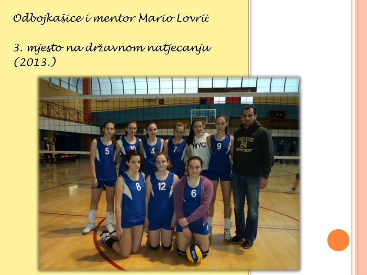 Odbojkašice i mentor Mario Lovrić