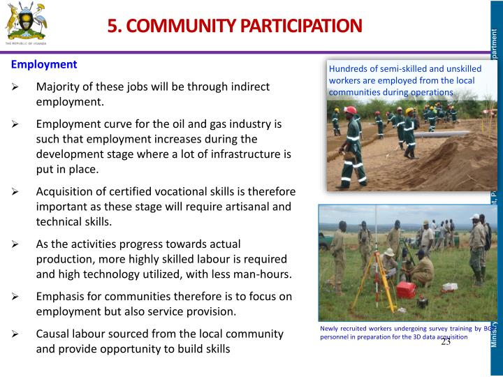 5. COMMUNITY PARTICIPATION