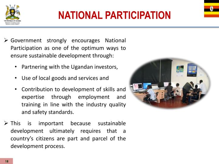 NATIONAL PARTICIPATION