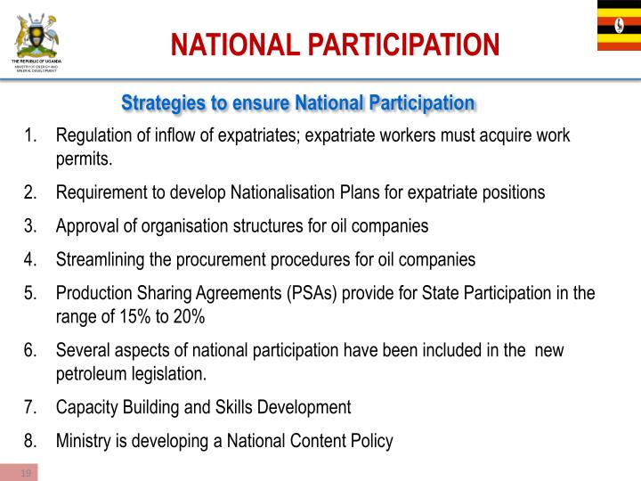 Strategies to ensure National Participation