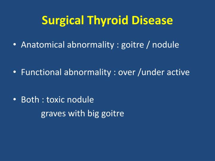 Surgical thyroid disease2