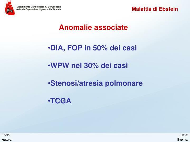 Anomalie associate
