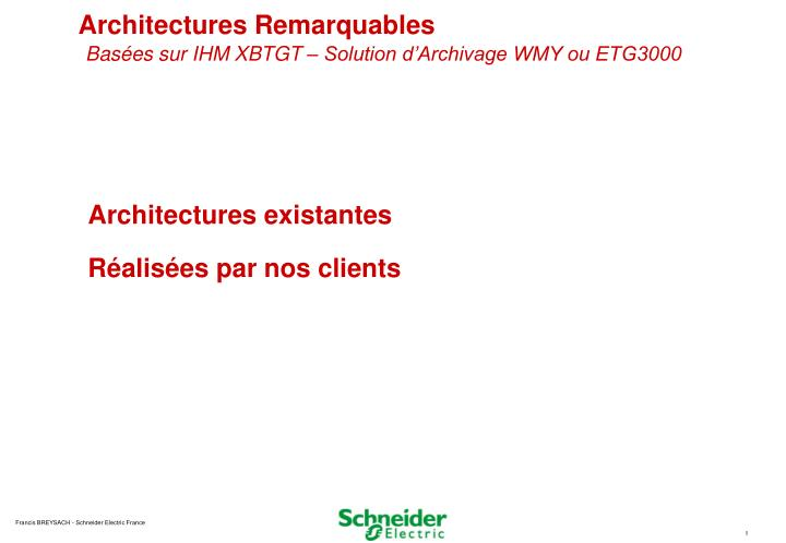 Architectures Remarquables