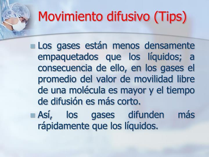 Movimiento difusivo (
