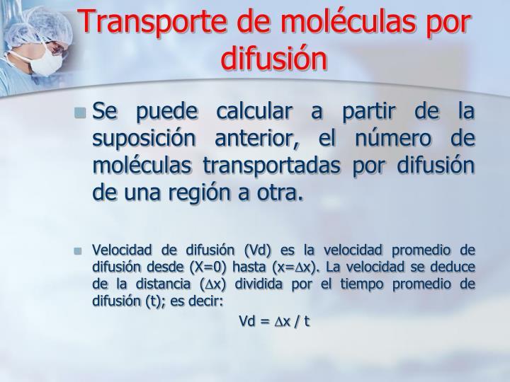 Transporte de moléculas por difusión
