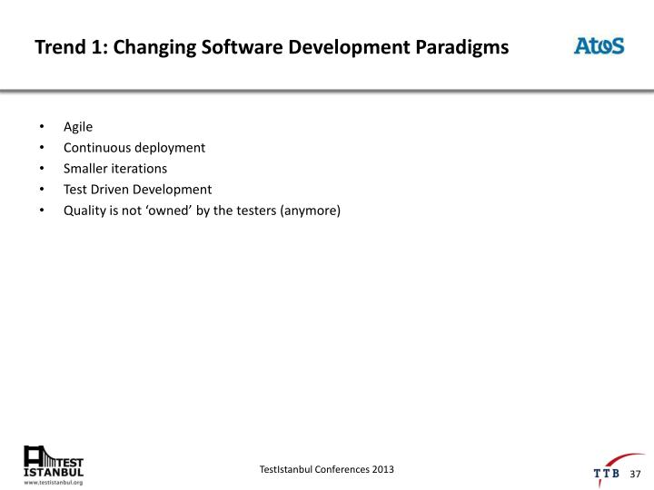 Trend 1: Changing Software Development Paradigms