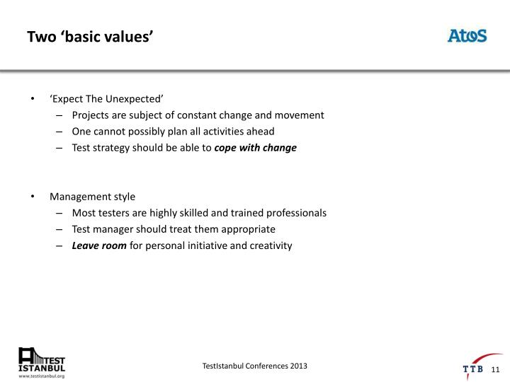 Two 'basic values'