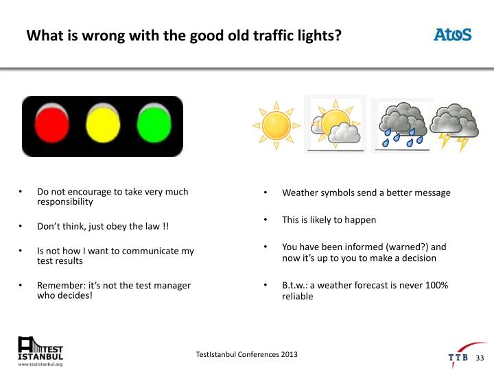 What is wrong with the good old traffic lights?