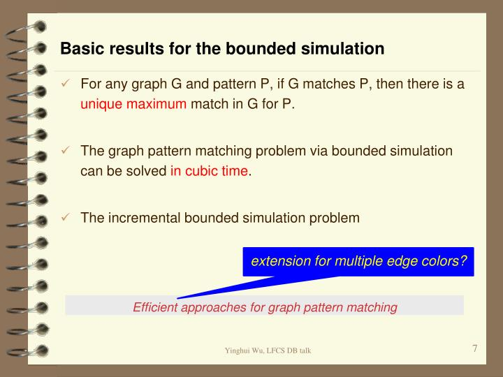 Basic results for the bounded simulation