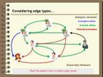 considering edge types