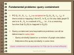 fundamental problems query containment