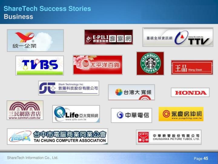 ShareTech Success Stories