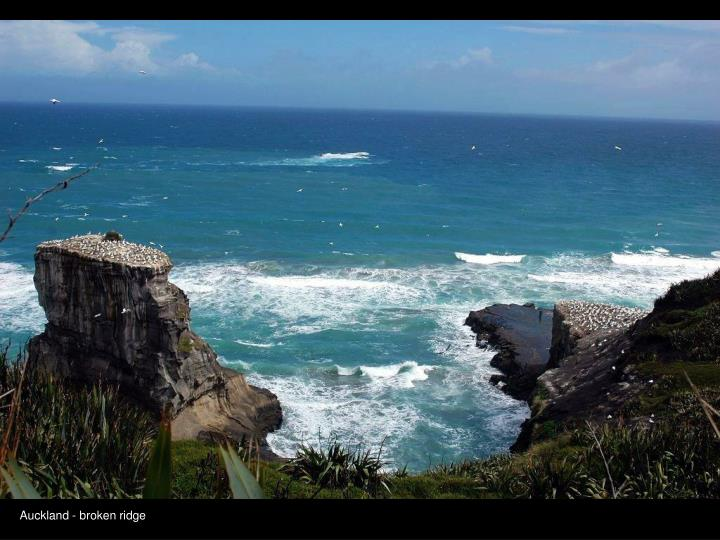 Auckland - broken ridge