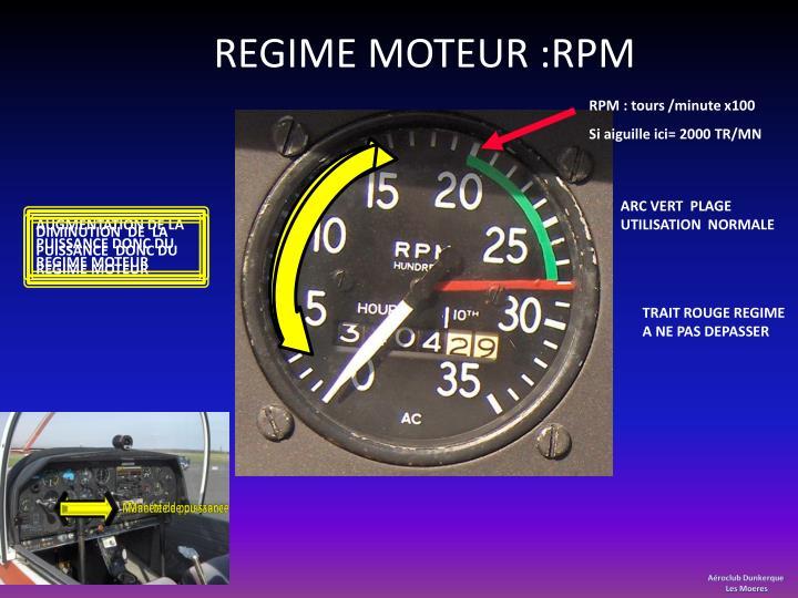 REGIME MOTEUR :RPM