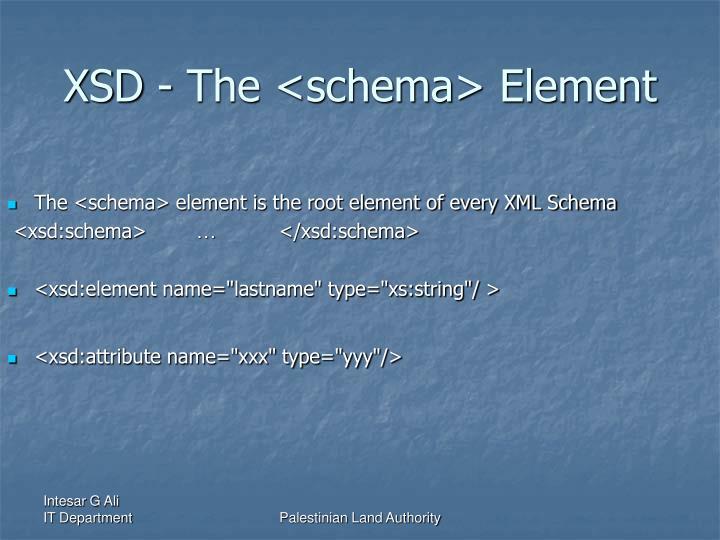 XSD - The <schema> Element