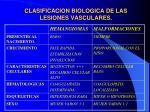 clasificacion biologica de las lesiones vasculares