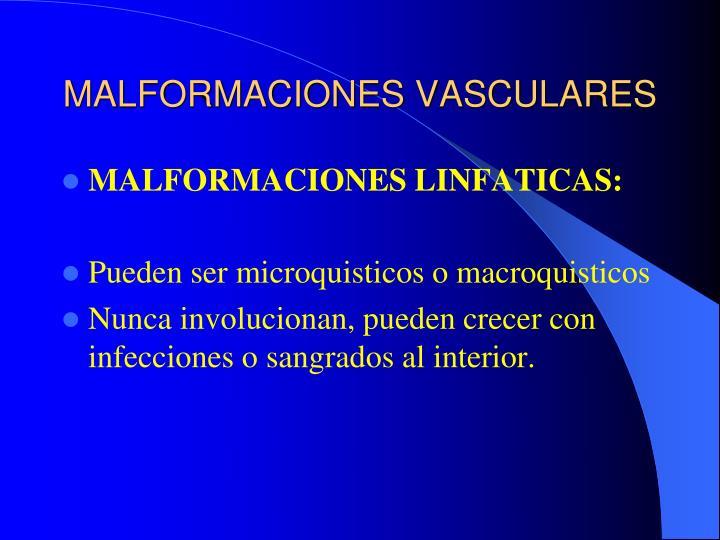 MALFORMACIONES VASCULARES