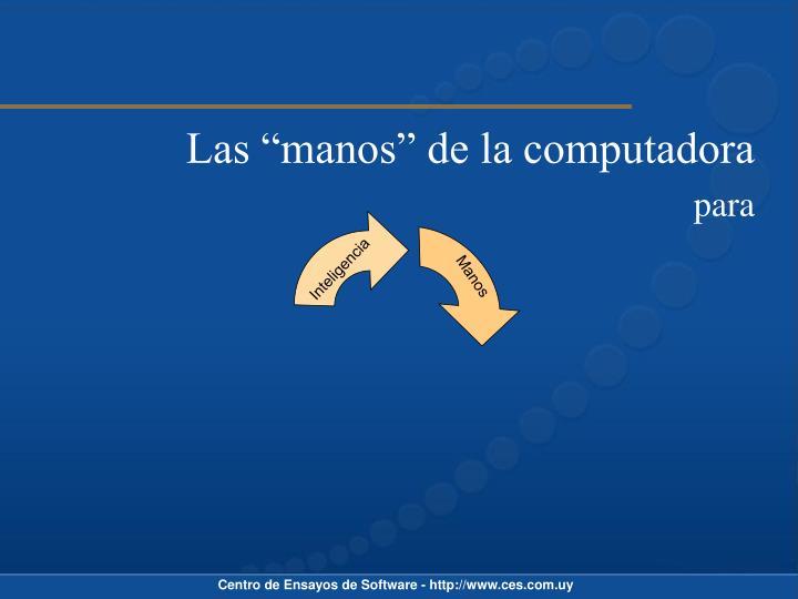 """Las """"manos"""" de la computadora"""