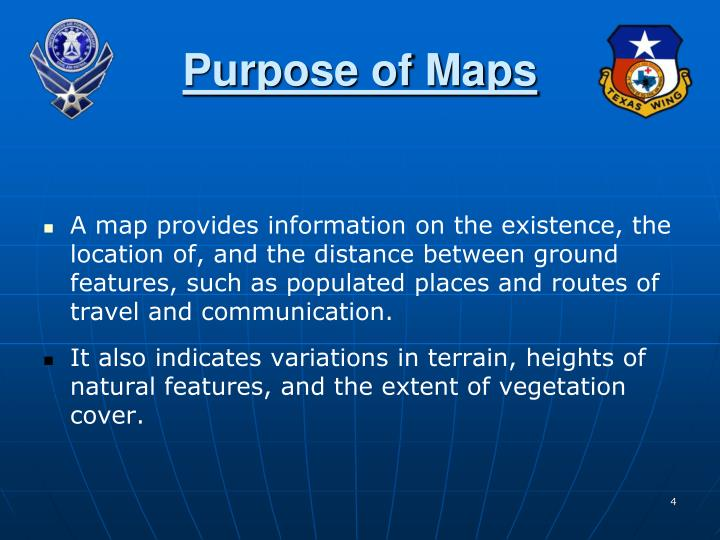 Purpose of Maps