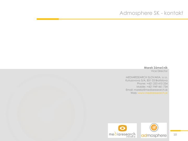 Admosphere SK - kontakt