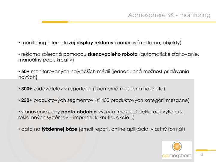 Admosphere SK - monitoring