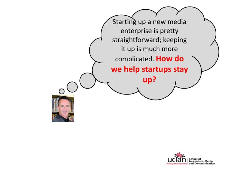 Starting up a new media enterprise is pretty straightforward; keeping it up is much more complicated...