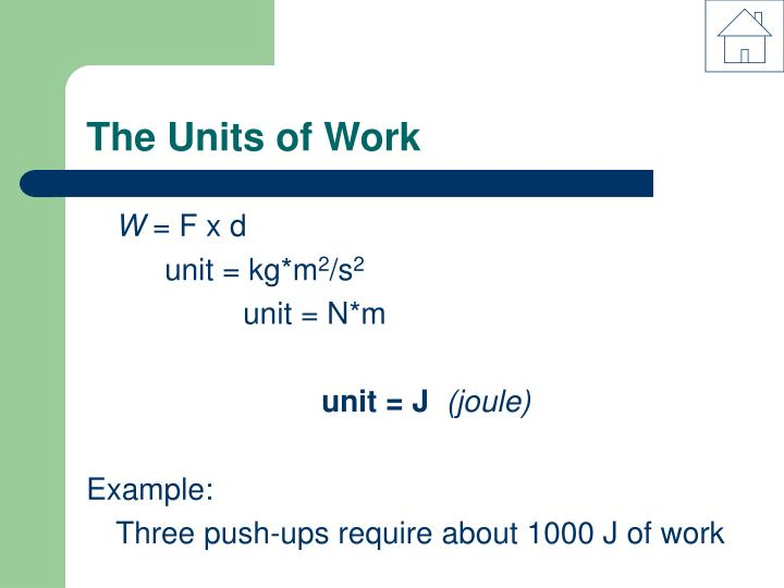 The Units of Work