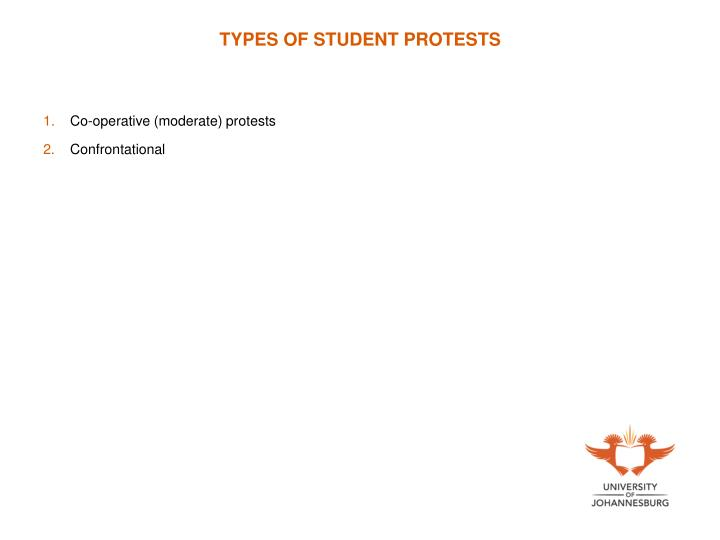 TYPES OF STUDENT PROTESTS