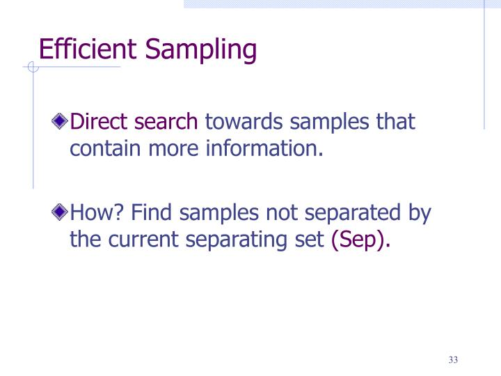 Efficient Sampling