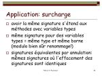 application surcharge