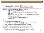 exemple avec reflection