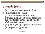 exemple suite