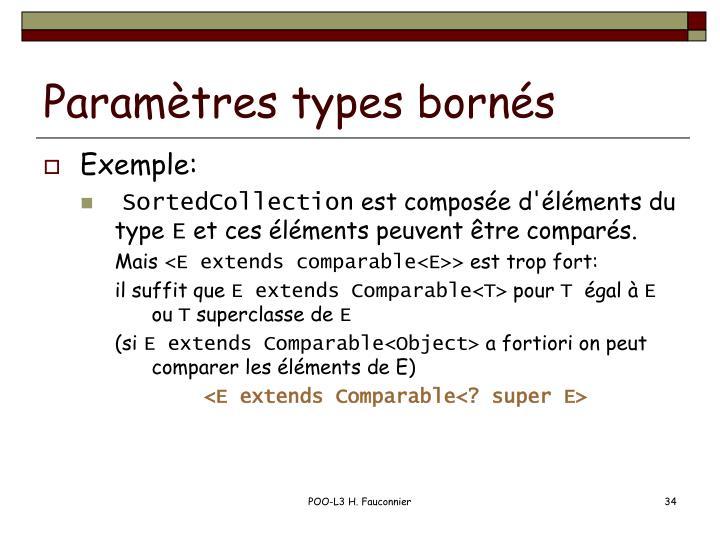 Paramètres types bornés