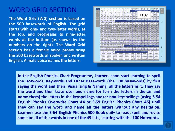 WORD GRID SECTION