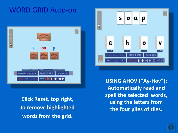 WORD GRID Auto-on