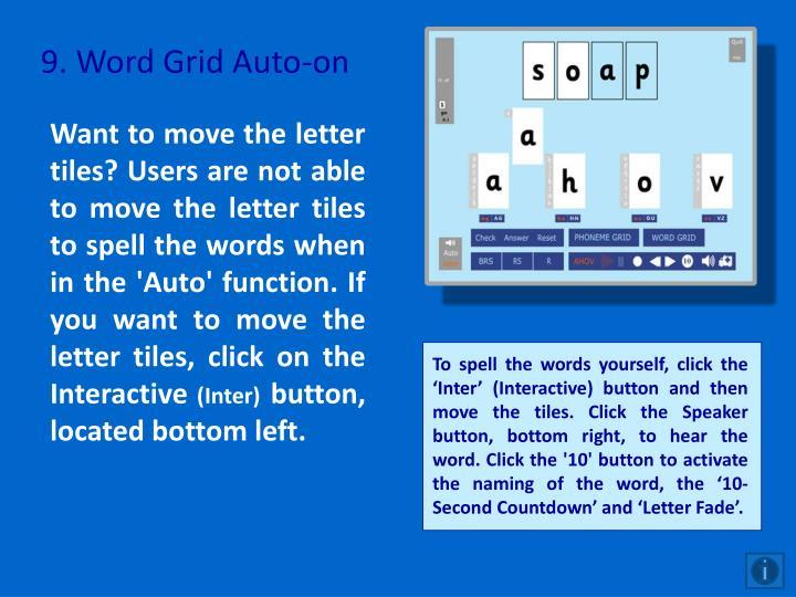 9. Word Grid Auto-on