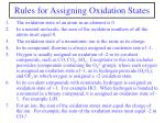 rules for assigning oxidation states