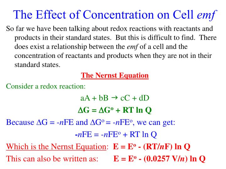 The Effect of Concentration on Cell