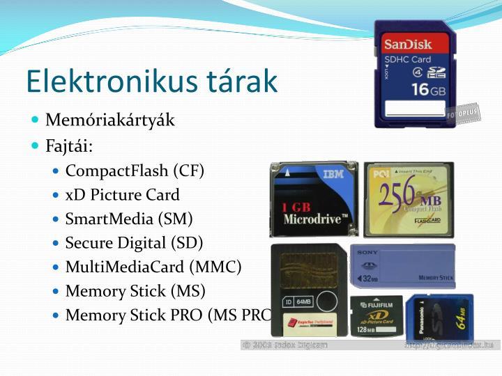 Elektronikus tárak