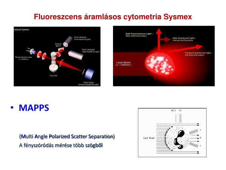 Fluoreszcens áramlásos cytometria Sysmex
