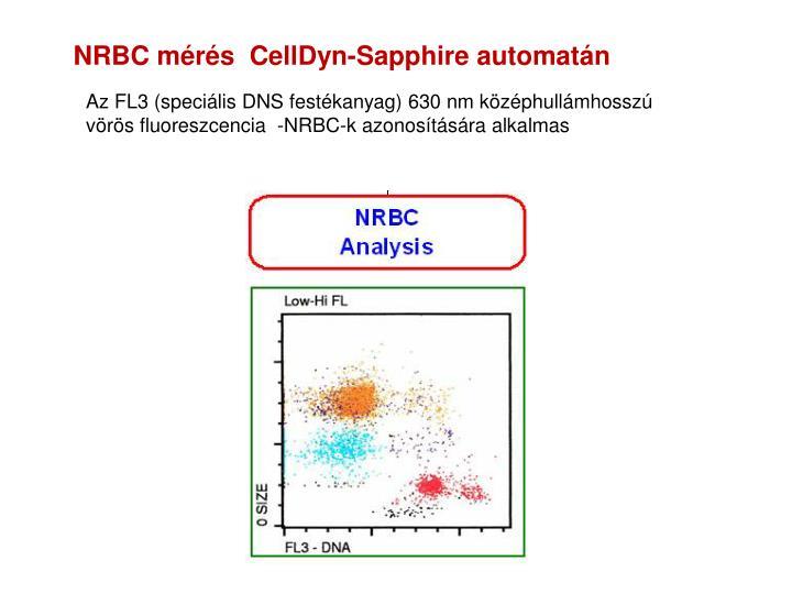 NRBC mérés  CellDyn-Sapphire automatán
